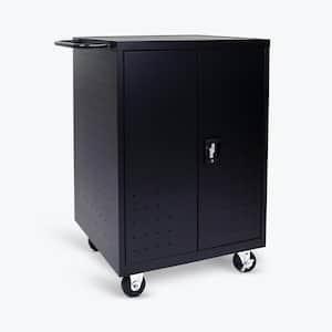 All Steel Mobile Charging Locker for 24 Laptops/Chromebooks in Black