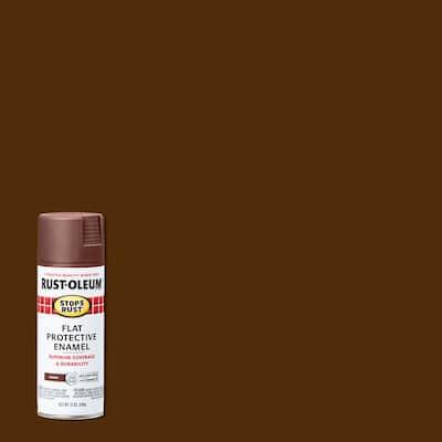 12 oz. Protective Enamel Flat Brown Spray Paint