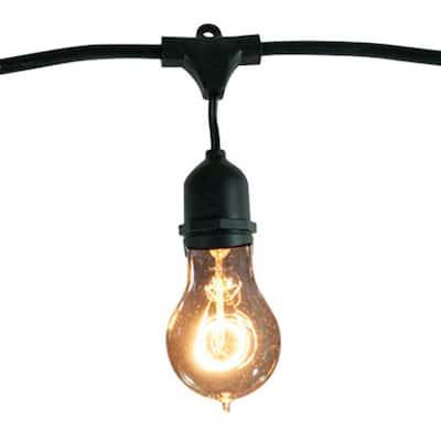 48 ft. 15-Socket with 25-Watt A19 Incandescent String Light Set