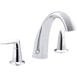 Alteo 8 in. 2-Handle High Arc Bathroom Faucet Trim Kit in Polished Chrome (Valve Not Included)