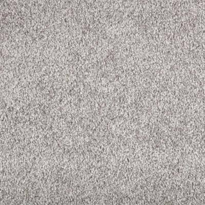 8 in. x 8 in. Texture Carpet Sample - Superiority II -Color Greygate