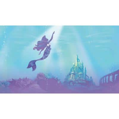 Under The Sea Blue, Purple Vinyl Peelable Roll (Covers 63 sq. ft.)