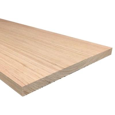 1 in. x 12 in. x Random Length S4S Oak Board