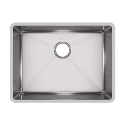 Crosstown Undermount Stainless Steel 24 in. Single Bowl Kitchen Sink