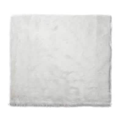 4 ft. x 4ft. Faux Sheepskin Rug, Solid White Soft Anti-Skid Fluffy Area Rug