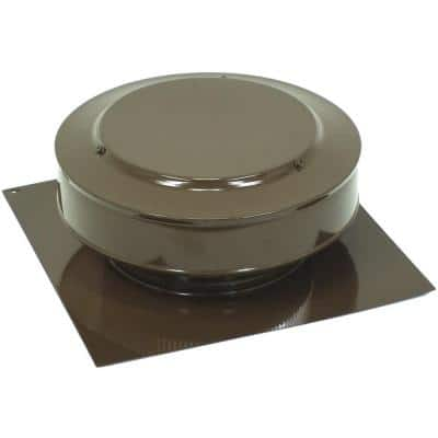 50 sq. in. NFA Aluminum Round Back Static Roof Vent in Brown