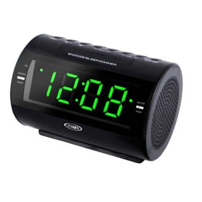 AM and FM Digital 1.2 in. Green LED Display Dual