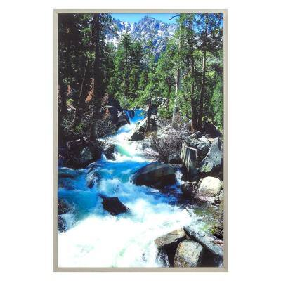 """""""Eagle Falls"""" Silver Frame Photography Wall Art 47 in. x 32 in."""