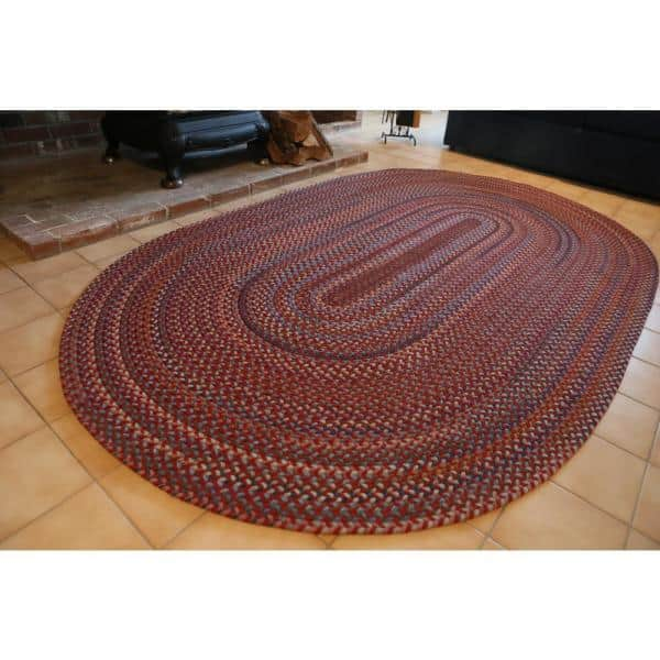 Rhody Rug Annie Greengrass 4 Ft X 4 Ft Round Indoor Braided Area Rug An22r048x048 The Home Depot