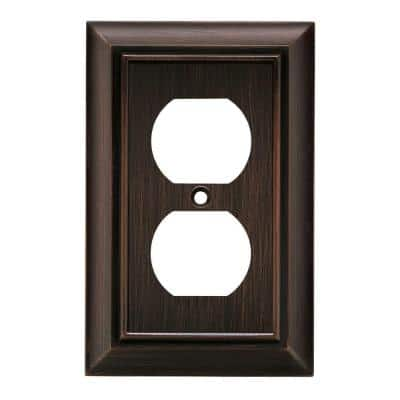 Bronze 1-Gang Duplex Outlet Wall Plate (1-Pack)