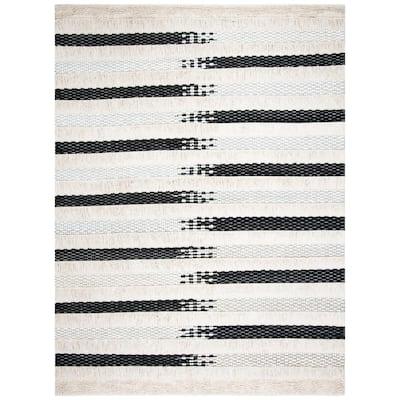 Natura Ivory/Black 9 ft. x 12 ft. Geometric Area Rug