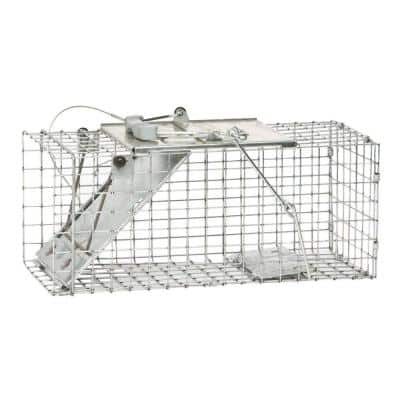 Small 1-Door Easy Set Live Animal Cage Trap for Squirrel and Rabbit