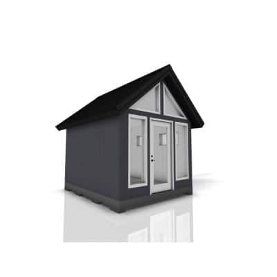 Installed Shed Rustica Series Escape 10 ft. x 12 ft. Backyard Studio with Painted Wood Siding and Wood Foundation