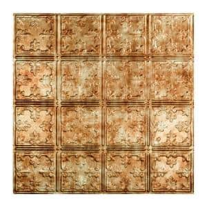 Traditional #10 2 ft. x 2 ft. Bermuda Bronze Lay-In Vinyl Ceiling Tile (20 sq. ft.)