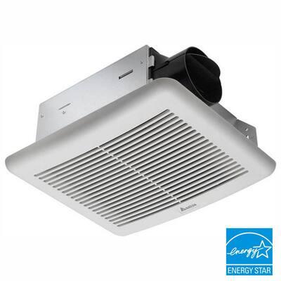 Slim 50 CFM Wall or Ceiling Bathroom Exhaust Fan, ENERGY STAR (3-Pack)