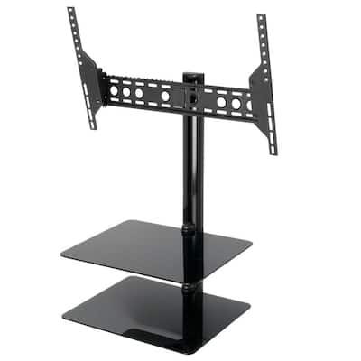 Tilt and Turn TV Mount with AV Shelving for 37-60 in. Screens for Flat Panel TVs and AV Components