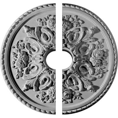 32-5/8 in. x 6 in. x 2 in. Bradford Urethane Ceiling Medallion, 2-Piece (Fits Canopies up to 6-5/8 in.)