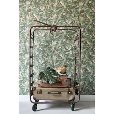 Dumott Olive Tropical Leaves Olive Wallpaper Sample