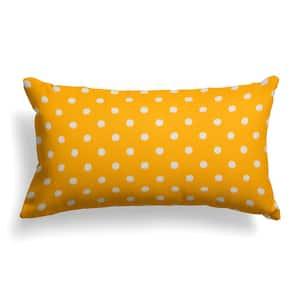 Coastal Pineapple Yellow Rectangular Lumbar Outdoor Pillow