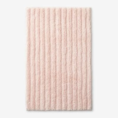 Green Earth Quick Dry Blush 50 in. x 30 in. Cotton Bath Mat