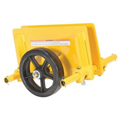 1,000 lb. Adjustable Panel Dolly with Mold-On-Rubber Wheels