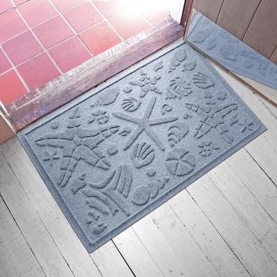 Beachcomber 23 in. x 35 in. PET Polyester Doormat Bluestone