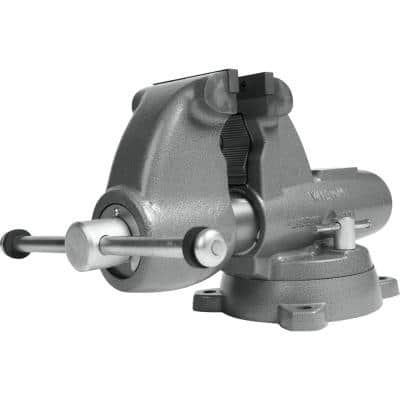 Combination Pipe and Bench 5 in. Jaw Round Channel Vise with Swivel Base
