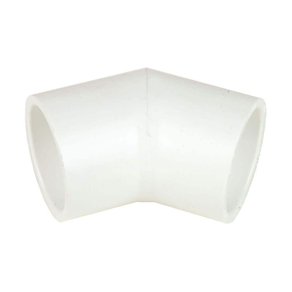 Dura 12 In Schedule 40 Pvc 45 Degree Elbow Sxs 417 120 The Home Depot