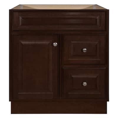 Hampton 30 in. W x 21 in. D x 33.5 in. H Bathroom Vanity Cabinet Only in Cognac