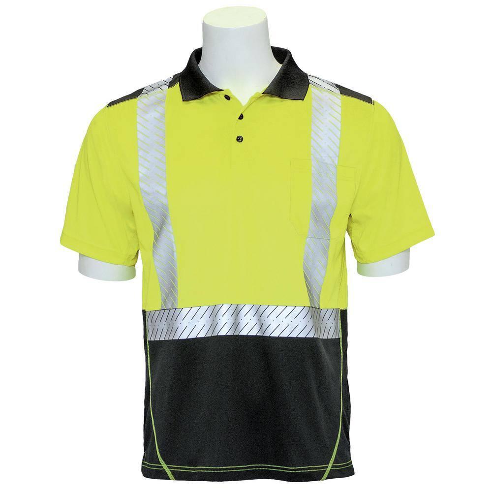 Details about  /Hi-Vis Orange Safety Workwear Short Sleeve Polo Shirt Top Reflective Tape