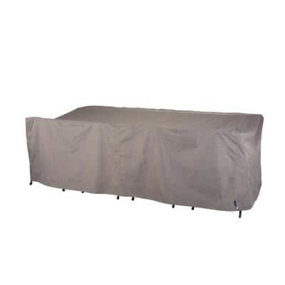 Garrison Waterproof Rectangle Outdoor Patio Dining Table and Chairs Cover, 64 in. W x 108 in. D x 34 in. H, Heather Gray