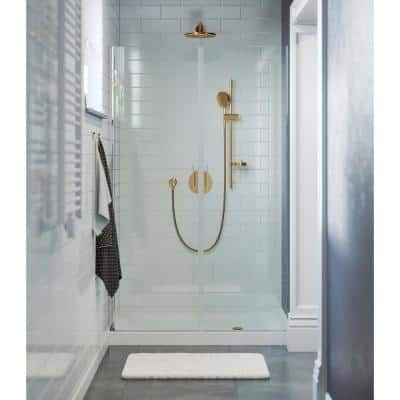 Voltaire 48 in. x 36 in. Single Threshold Acrylic Right Drain Shower Base in White