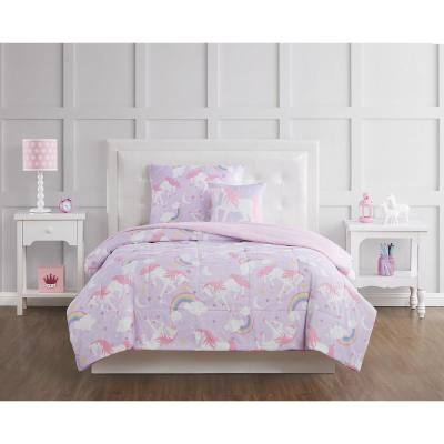 Rainbow Unicorn Comforter Set