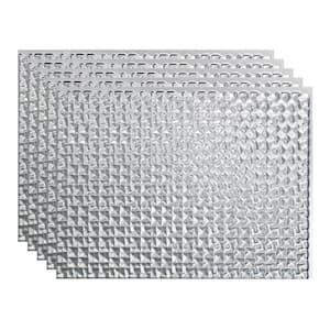 Terrain 18 in. x 24 in. Brushed Aluminum Vinyl Decorative Wall Tile Backsplash 15 sq. ft. Kit
