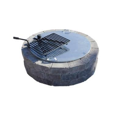 34 in. Fire Pit Cover with Slot