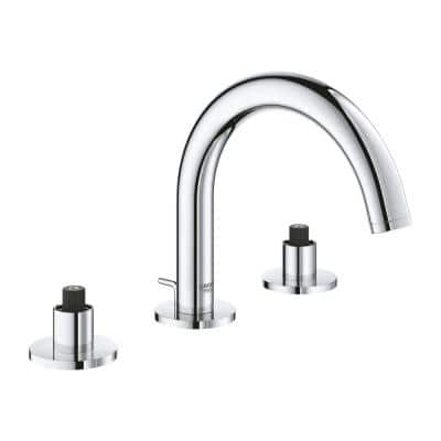 Atrio 8 in. Widespread 2-Handle S-Size Bathroom Faucet in StarLight Chrome