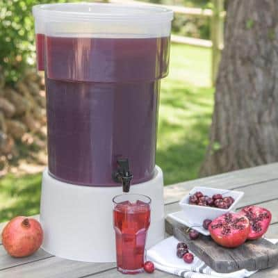 5 Gal. Polypropylene Beverage Dispenser with Lid and Faucet See-Thru