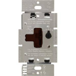 Toggler LED+ Dimmer Switch for Dimmable LED, Halogen and Incandescent Bulbs, Single-Pole or 3-Way, Brown