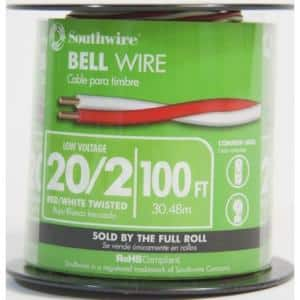 100 ft. 20/2 Twisted CU Bell Wire