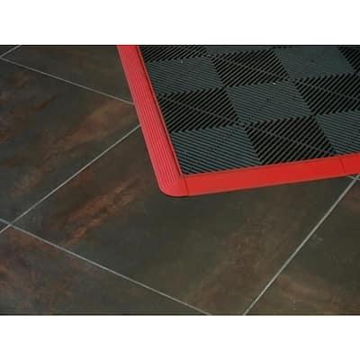2.5 in. W x 2.5 in. L Chocolate Brown Corner Edging for 15.75 in. Modular Polypropylene Tile Flooring (2-Pack)