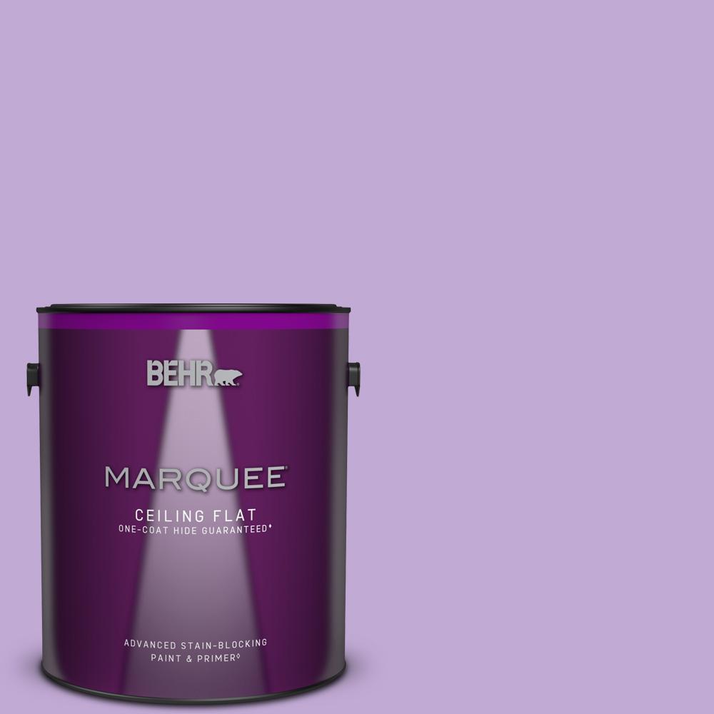 1 gal. #MQ4-59 Purple Gladiola One-Coat Hide Ceiling Flat Interior Paint & Primer