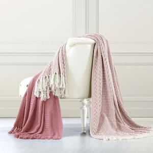 Batik Ash Rose Cotton Throw Blanket (Set of 2)