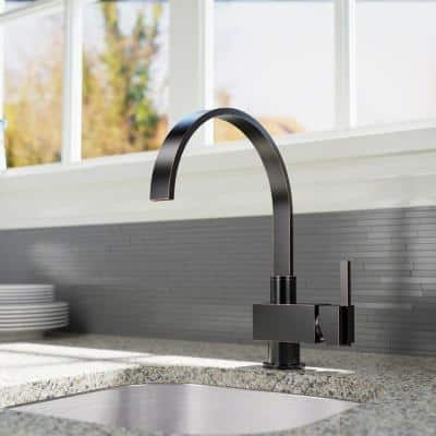 Single-Handle Bar Faucet in Antique Bronze