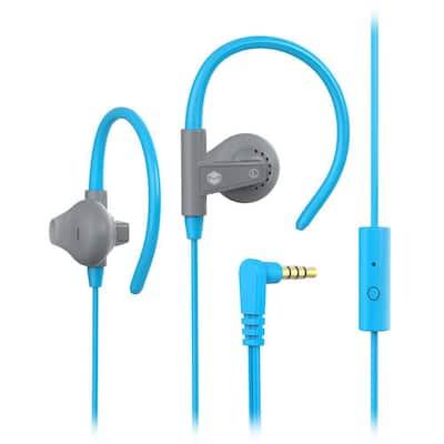 Aerofones Sports Earhook Earphones with Mic in Blue