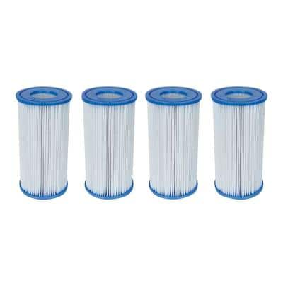 4.2 in. Dia 14 sq. ft. Type-III/A Pool Replacement Filter Cartridge (4-Pack)