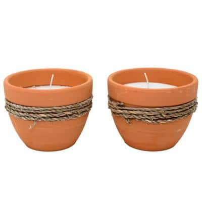 5 oz. Citronella Terracotta Candle (2-Pack)