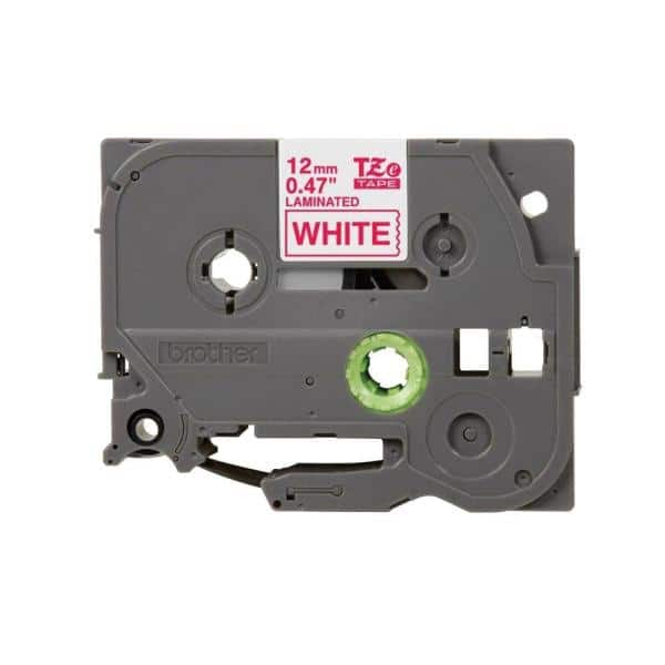 """2PK 9MM White on Red Tape Label for Brother P-Touch PT1300 TZ-425 TZe-425 3//8/"""""""