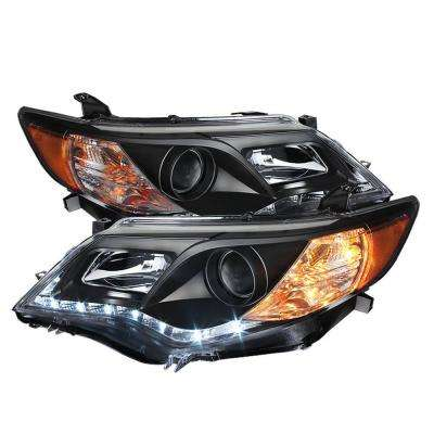 Toyota Camry 12-14 Projector Headlights - DRL - Black - High 9005 (Not Included - Low 9006 (Included)