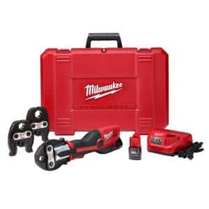 M12 12-Volt Lithium-Ion Force Logic Cordless Press Tool Kit (3 Jaws Included) with Two 1.5 Ah Battery and Hard Case