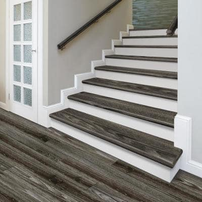 Driftwood Beach 47 in. L x 12-1/8 in. W x 2-3/16 in. T Vinyl to Cover Stairs 1-1/8 in. T to 1-3/4 in. T